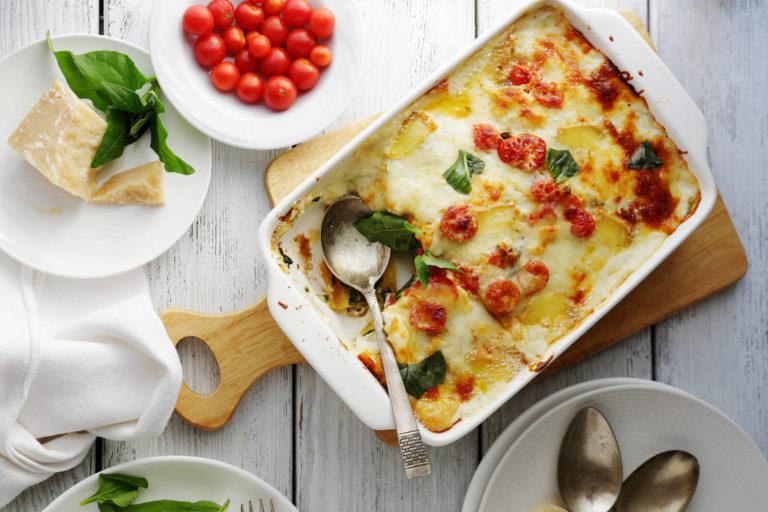 Super nem vegetar-lasagne med spinat