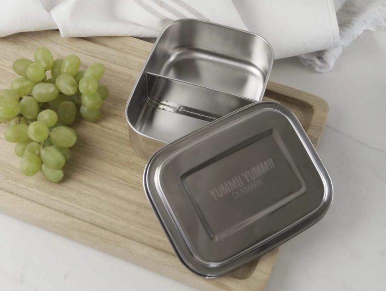 Skolestart: metal madkasse og termo drikkedunk